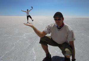 In der Salzwüste Uyuni, Bolivien
